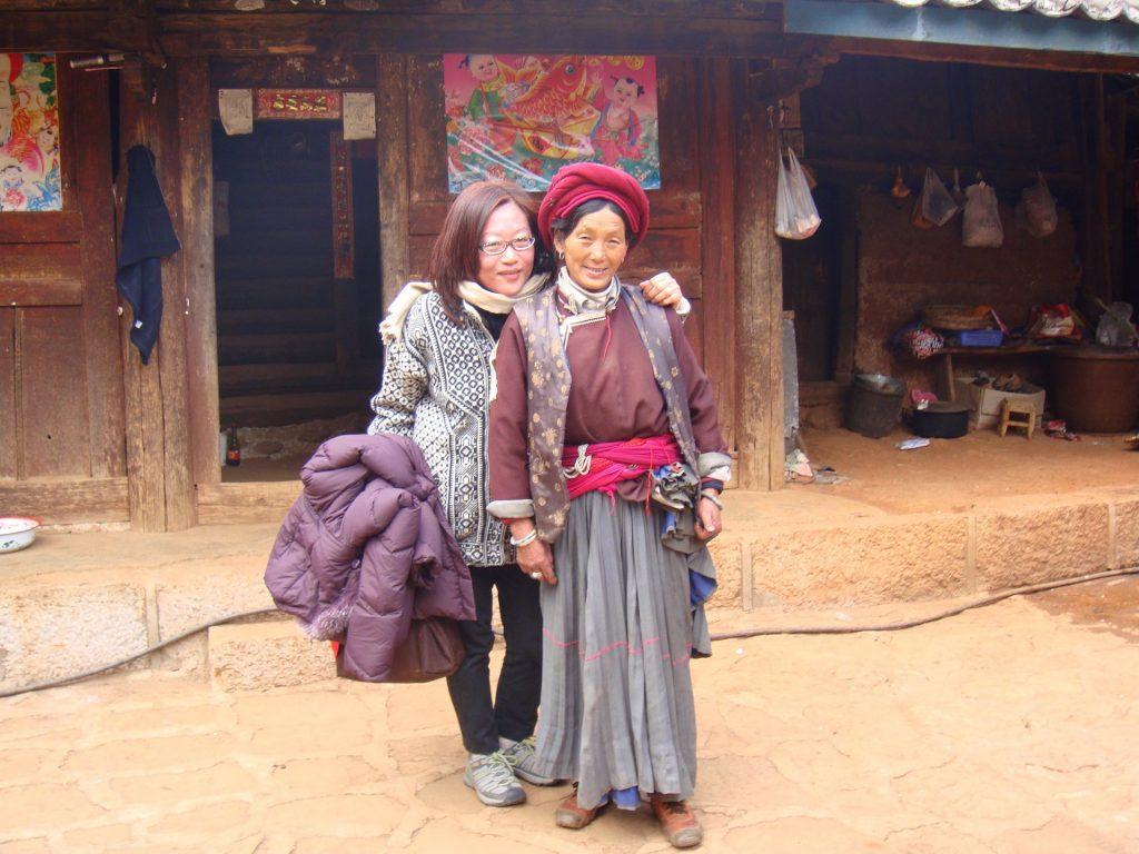 Чу Вейхонг с матриархом Масуо